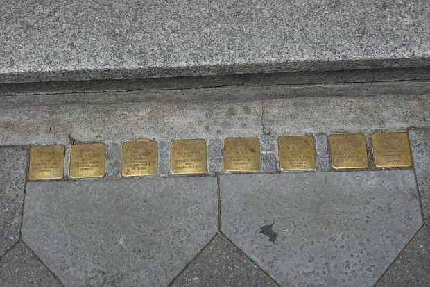 The Stolpersteine at 42 Fasanenstrasse
