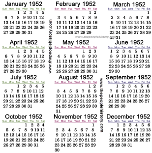 1952-calendar