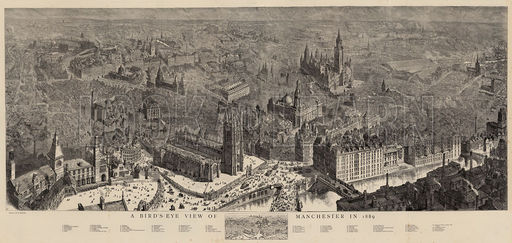 A Bird's-Eye View of Manchester in 1889