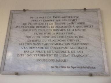 gare dausterlitz plaque