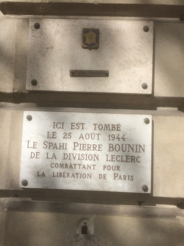 paris plaque bounin