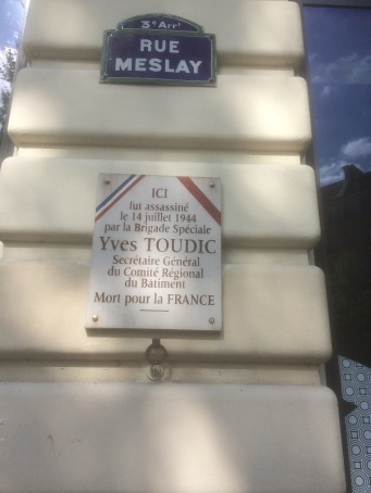 paris plaque toudic
