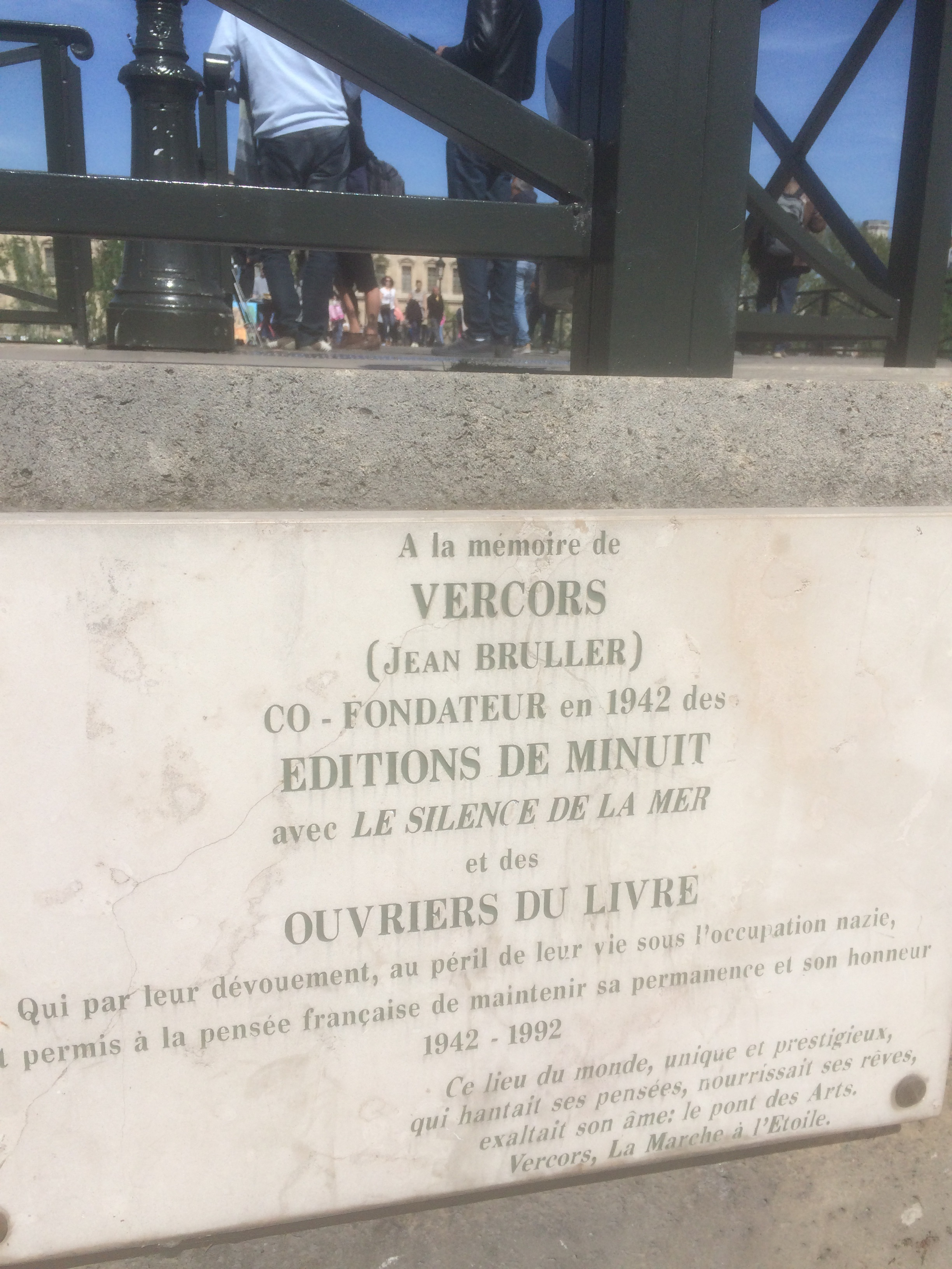 paris plaque vercors