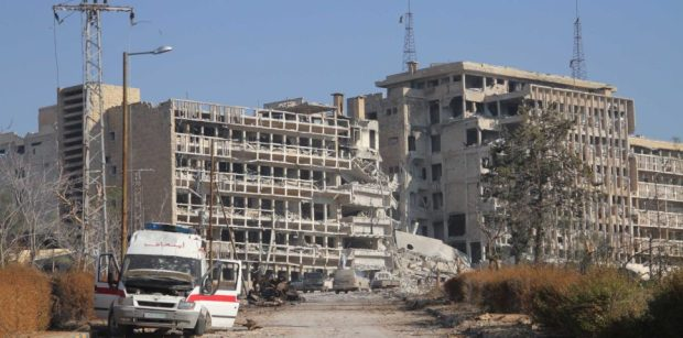 Al-Kindi hospital in Aleppo, Syria