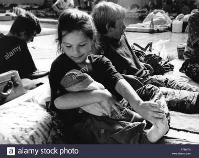 events-croatian-war-of-independence-1991-1995-refigees-refugee-camp-A71M7N